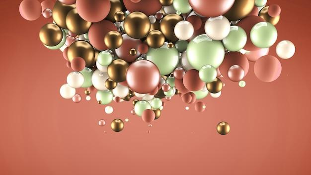 Абстрактный фон с элементами. 3d иллюстрации, 3d-рендеринг.