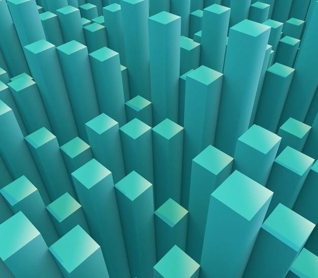 押し出しキューブと抽象的な背景