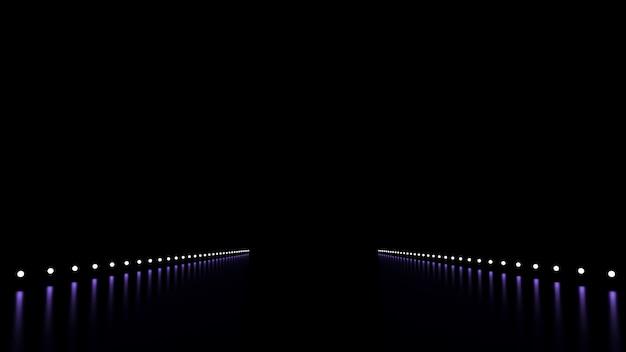 輝きと道路と抽象的な背景。