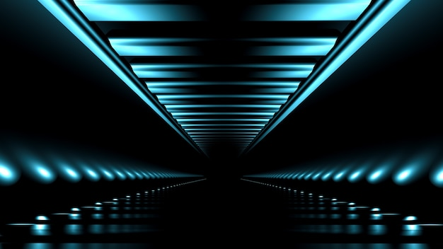 Abstract background with glow and road.