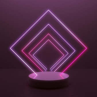 Abstract background with glowing light line in minimal design for product display