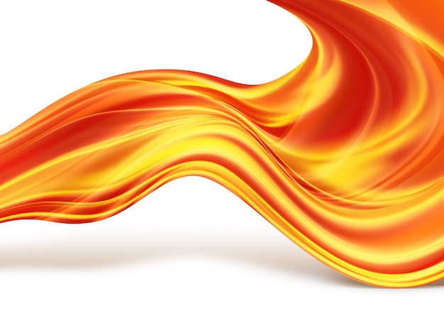 Abstract background with glowing lines of fire
