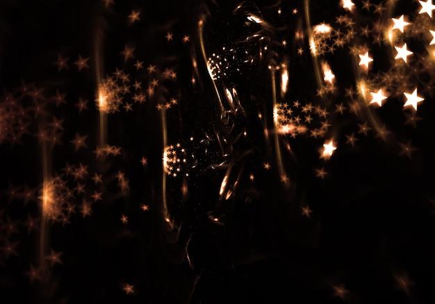 Disegno astratto con stelle incandescente