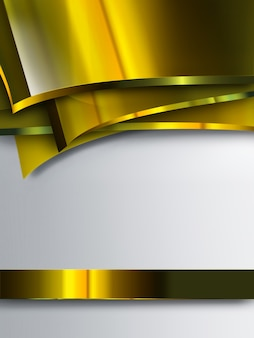 Abstract background with gold plates
