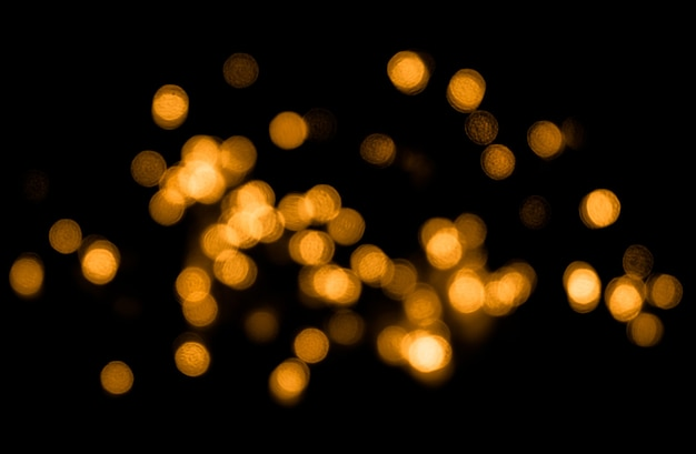 Abstract background with golden bokeh for overlay layer