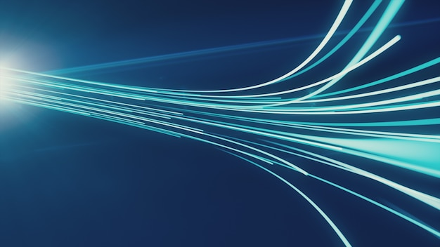 Abstract background with lines for fiber optic