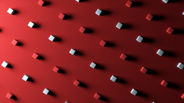 素晴らしいカラフルなキューブと抽象的な背景