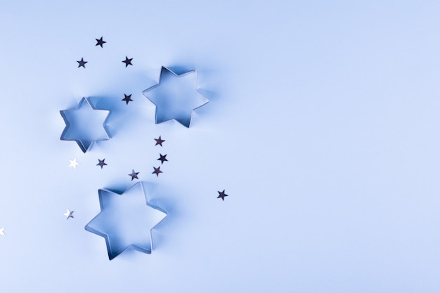 Abstract background with metal stars