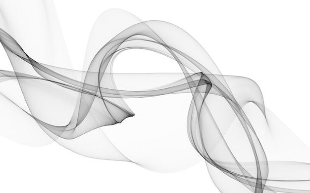 Абстрактный фон с монохромными волновыми линиями на белом фоне. фон современной технологии.