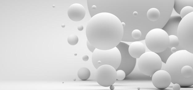 さまざまなサイズのピンクの球体と抽象的な背景モダンな背景デザインdレンダリング