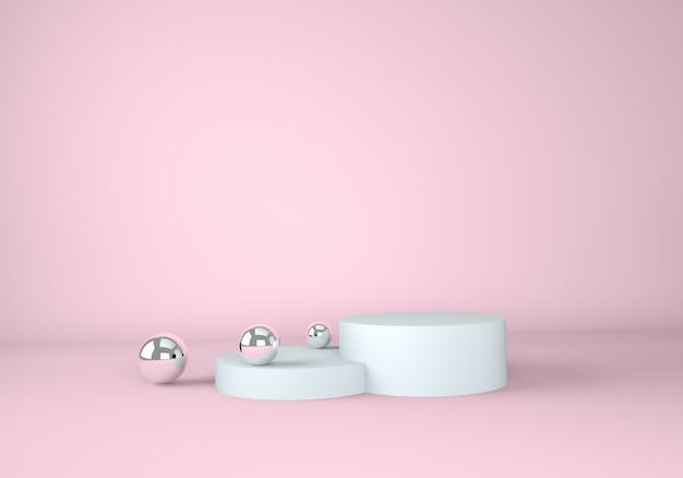 製品の表示のための表彰台と抽象的な背景。