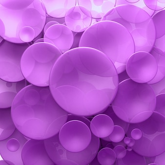 Abstract background with purple transparent disks