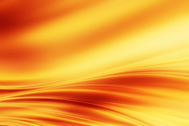 Abstract background with smooth lines of fire