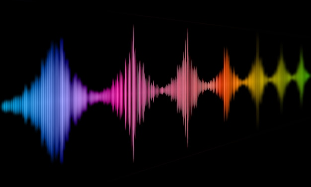 Abstract background with sound waves design