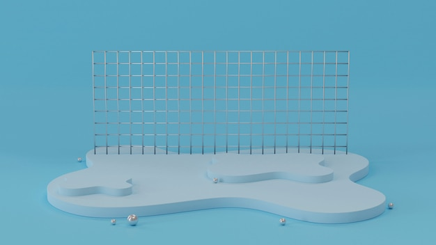 Abstract background with stage. 3d rendering.