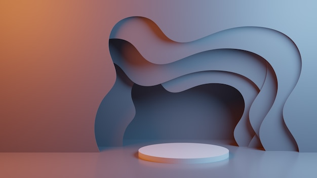 Abstract background with stage