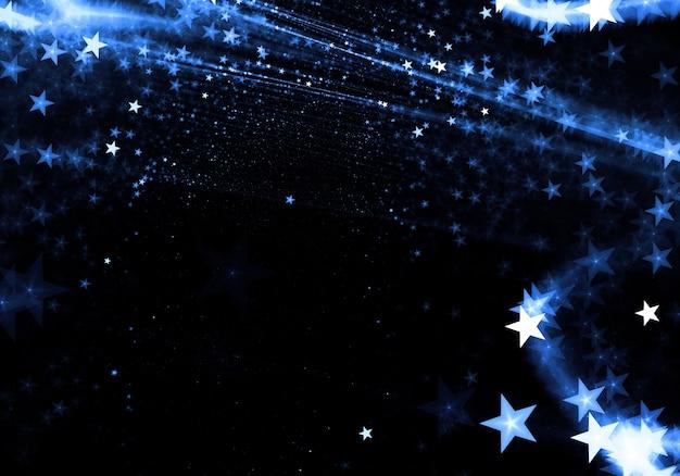 抽象的な星の粒子形状の背景