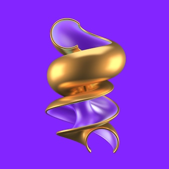 ターコイズとゴールドの抽象的な背景。 3dイラスト、3dレンダリング。
