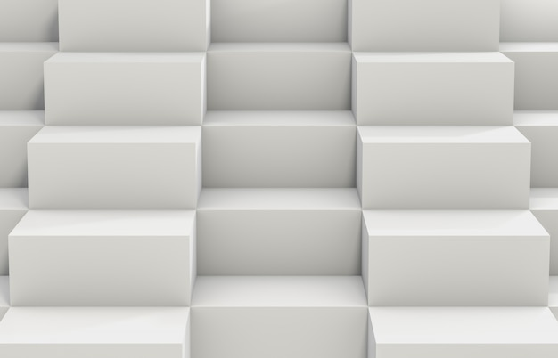 Abstract background with white 3d cube box. 3d render