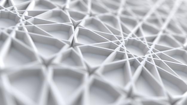 흰색 아랍어 girih 패턴으로 추상적 인 배경