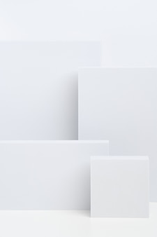 Abstract background with white geometric shapes. minimalistic modern composition.