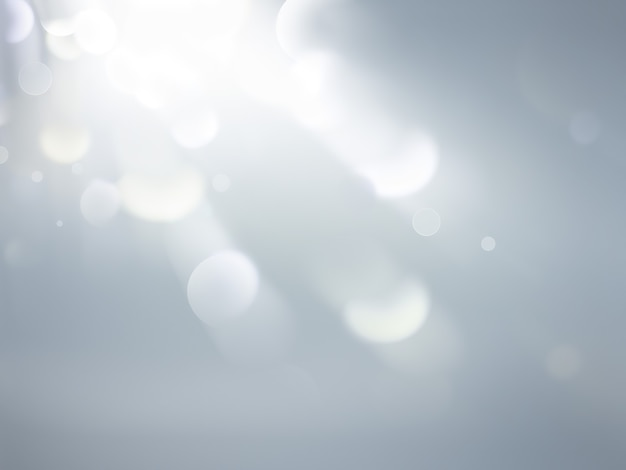 Abstract background with a white light blur soft bokeh effect