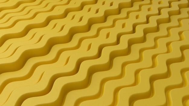 노란색 물결 선으로 추상적 인 배경
