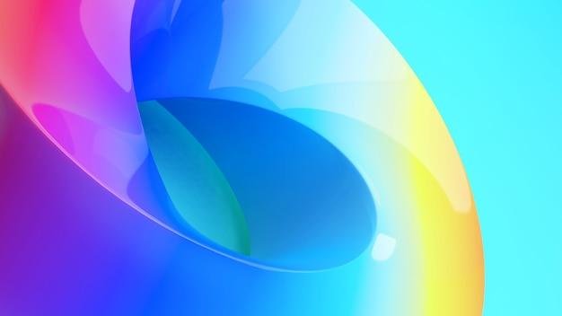 Абстрактный фон работы. формы ленты мебиуса на красочном фоне, 3d-рендеринг
