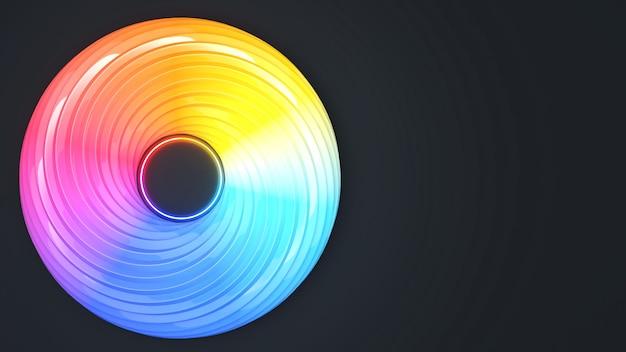 Абстрактный фон работы. формы полосы мебиуса на красочном фоне, фон абстрактное искусство водоворот изогнутые разноцветные, красочный водоворот, 3d-рендеринг