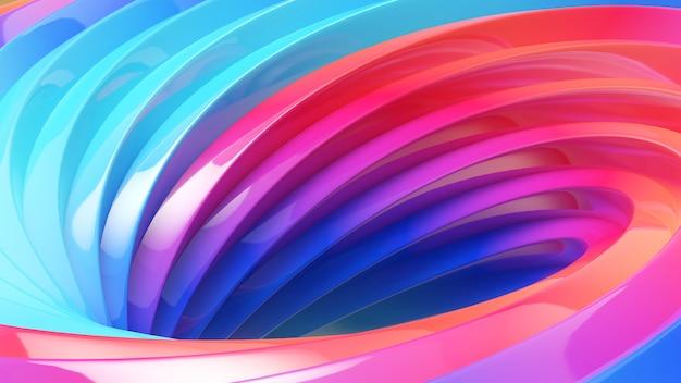 Абстрактный фон работы. формы полосы мебиуса на красочном фоне, красочный водоворот, 3d-рендеринг