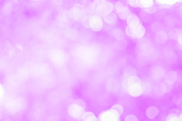 Abstract beautiful white bokeh on pink background.