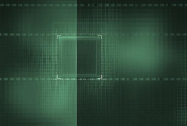 Абстрактный фоновый матричный эффект двоичного кода с цифрами
