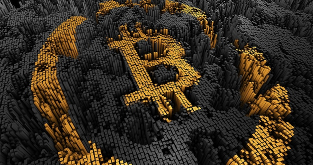 The abstract bitcoin of the squares