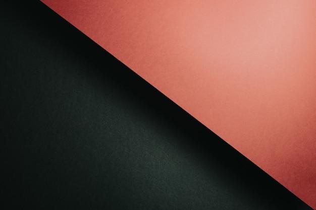 추상 검정 및 주황색 용지 형상 구성 배경, 최소한의 그림자, 복사 공간. 최소한의 기하학적 모양. 화려한 배경 개념