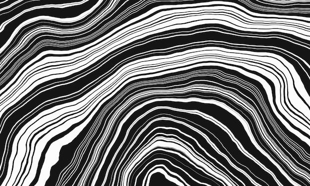 Абстрактный черно-белый слой геологическая структура складчатость антиклиналь и синклиналь