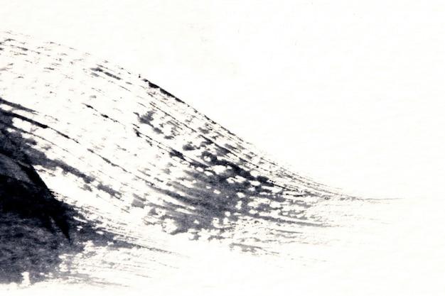 Абстрактный черно-белый акварельный мазок