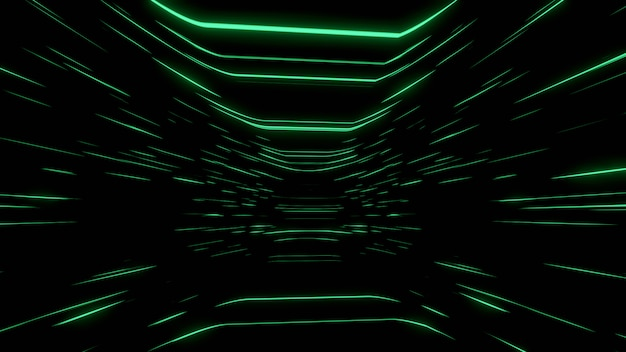 Abstract black background wallpaper backdrop green line speed glow screen