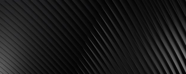 Абстрактный черный фон с диагональными полосами для фона текста или веб-сайта. 3d-рендеринг.