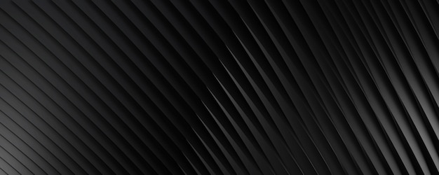 Abstract black background with diagonal stripes for text or website backgrounds. 3d rendering.