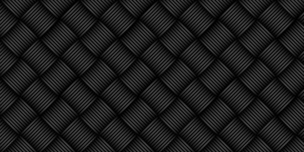 ラインストライプパターンと抽象的な黒の背景。ダイナミックなハイテクグラフィックバナーデザイン。ベクトル企業の背景 Premium写真