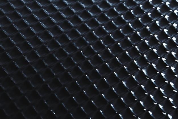 Fondo nero astratto con struttura di vetro modellata
