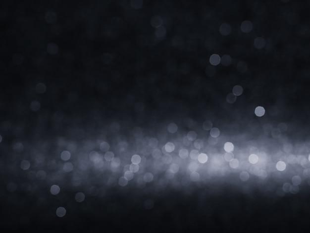 Abstract black bokeh backgroun lights glister bokeh