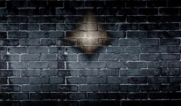 抽象的な黒いレンガの壁の背景