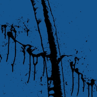 Abstract black creative paint splashes on a blue classic trend