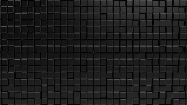 抽象的な黒いカブの幾何学的形状の構成