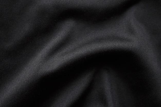 抽象的な黒い布布テクスチャ背景