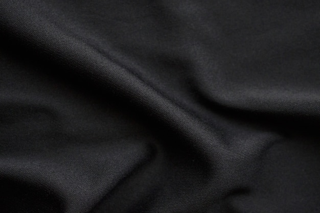 Abstract black fabric cloth texture