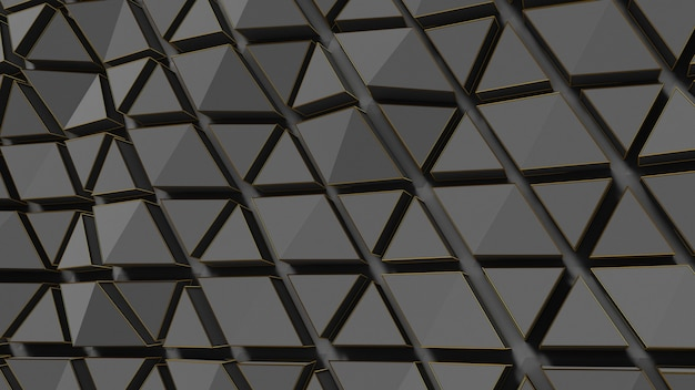 Abstract black gold background 3d render