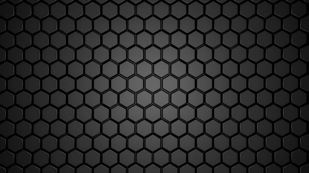 Abstract black hexagonal geometric layered.