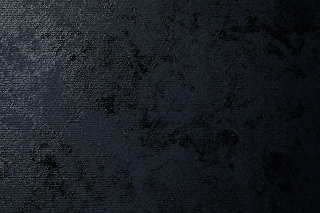 Abstract black paint on black textured paper
